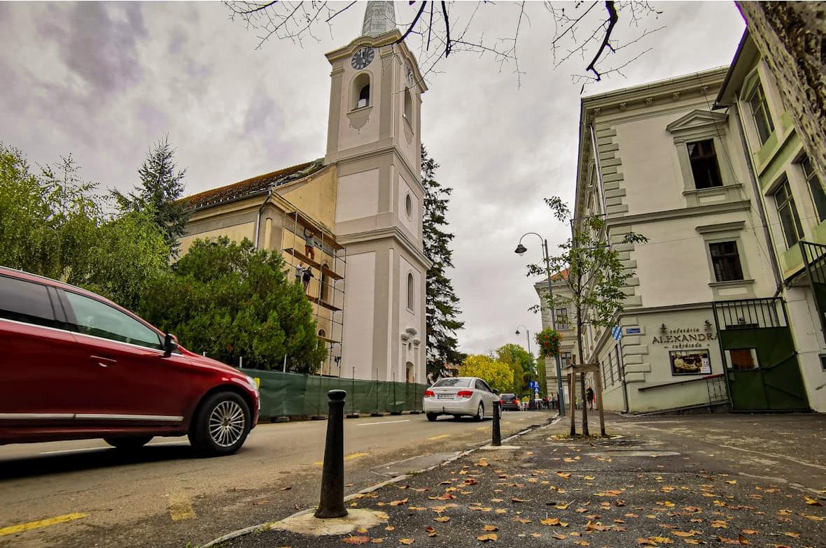 belvárosi református templom tornya a felűjítás után